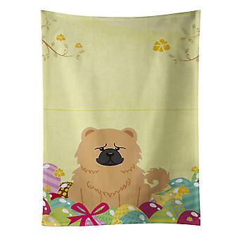 Carolines skarby BB6144KTWL pisanki Ręcznik kuchenny krem Chow Chow