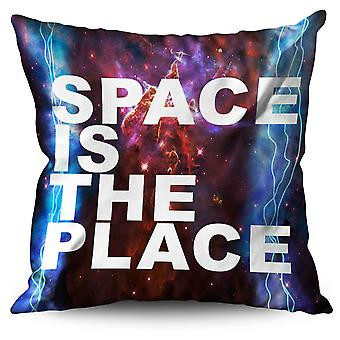 Space is The Place Linen Cushion 30cm x 30cm | Wellcoda