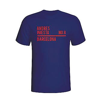 Andres Iniesta Barcelona Squad T-shirt (navy)