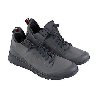 Palladium Desvilles  Mens Gray Canvas Lace Up High Top Sneakers Shoes