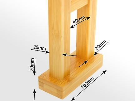 Woodquail Kitchen Over Sink Shelf Rack Made of Waterproof Bamboo