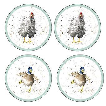 Pimpernel Wrendale Designs Round Coasters, Set of 4