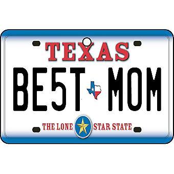 Texas - Best Mom License Plate Car Air Freshener