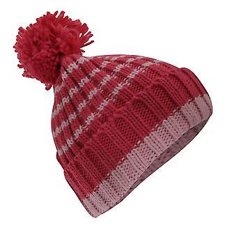 Dla dzieci/dzieci dziewczyny paski zima Bobble Hat