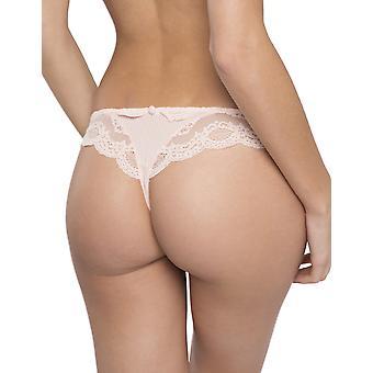 Maison Lejaby 17262-321 Women's Insaisissable Peach Pink Lace Knicker Panty Tanga