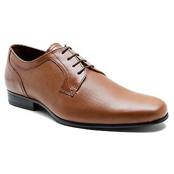 Red Tape Harston Mens Tan Leather Gibson Formal Shoes