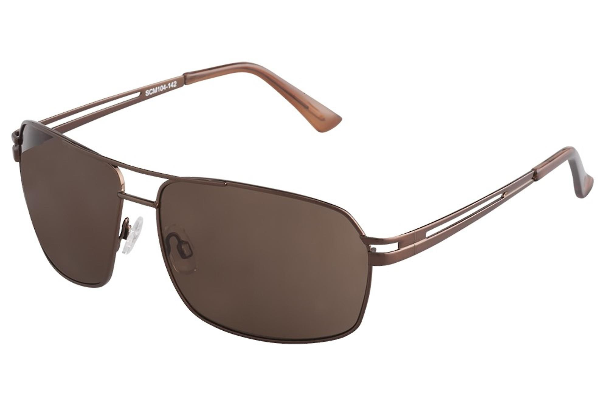 Classic sunglasses for men by Carlo Monti with 100% UV protection | sturdy metal frame, high quality sunglasses case, microfiber glasses pouch and 2 year warranty | SCM104-142 Napoli