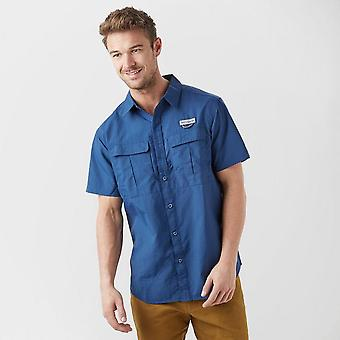 New Columbia Hommes Cascade Explorer Short Sleeve Shirt Navy