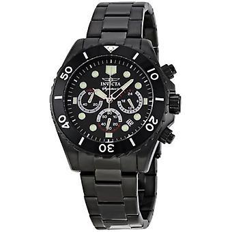 Signature 7369 noir cadran noir en acier inoxydable montre chronographe Invicta hommes