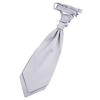 Silber Plain Satin Hochzeit bereits gebundene Krawatte