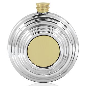 Clay Pigeon Brass and Pewter Flask - 6oz