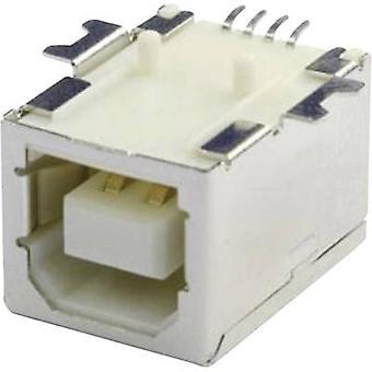 Monterade uttaget USB-B SMD 90 G Socket, horisontella mount UBU1BSMD 1 Port econ ansluta innehåll: 1 dator