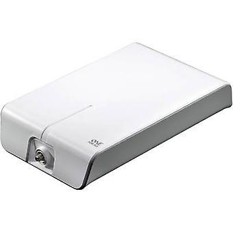 Uno per tutti SV 9455 DVB-T/T2 attivo antenna planare amplificazione all'aperto: 50 dB bianco