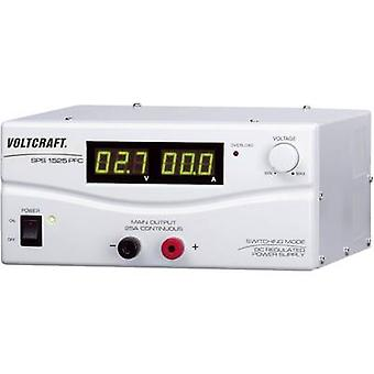 VOLTCRAFT SPS 1525 PFC Bench PSU (adjustable voltage) 3 - 15 V DC 2 - 25 A 375 W Remote No. of outputs 1 x