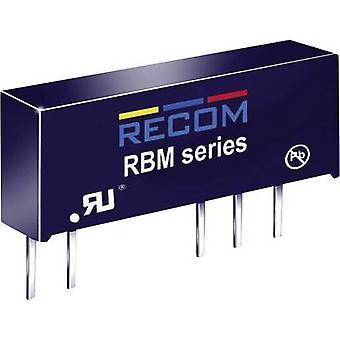 RECOM RBM-1212D DC/DC omvandlare (tryck) 12 V DC 12 V DC,-12 V DC 41 mA 1 W No. av utgångar: 2 x
