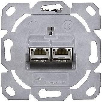 Network outlet Flush mount Insert CAT 6A 2 ports Telegärtner
