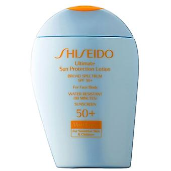 Shiseido Ultimate solen beskyttelse Lotion Wetforce For sensitiv hud & barn SPF 50 + 3,3 oz / 100ml