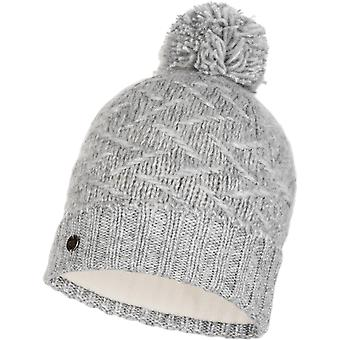Buff Ebba Knitted Bobble Hat in Cloud