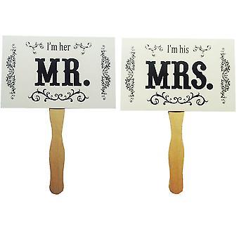 TRIXES Sr. e Sra direito imagens foto cartões de Prop