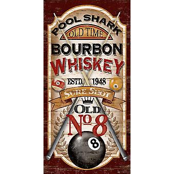 Pool Shark Whiskey Poster stampa di Conrad Knusten