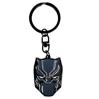 Sleutelhanger Black Panther zwart/grijs, 100% metaal, op blisterkaart verwonderen.
