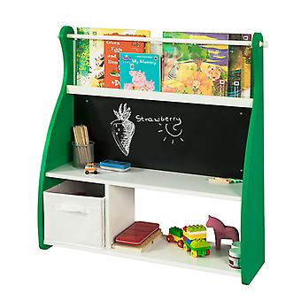 SoBuy Wand Kinder Regal Bücherregal mit Blackboard KMB09-GR
