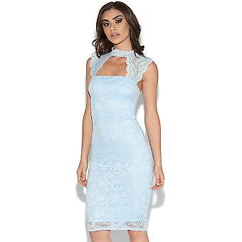 Schneiden Sie Detail Bodycon Kleid aus Spitze