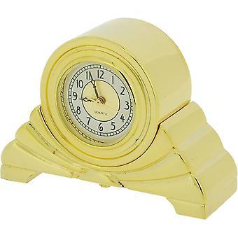 מוצרי זמן מתנה ארט דקו שעון מיניאטורי-זהב