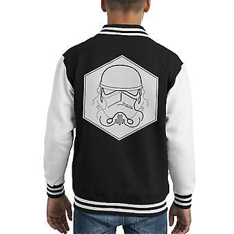 Originele Stormtrooper Line Art zeshoek Kid's Varsity Jacket
