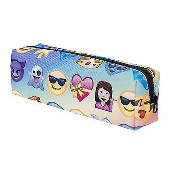 TRIXES 酷多色笑脸图标 拉链铅笔盒或化妆品支架