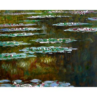 After Claude Monet water lilies, oil painting 50x60 cm