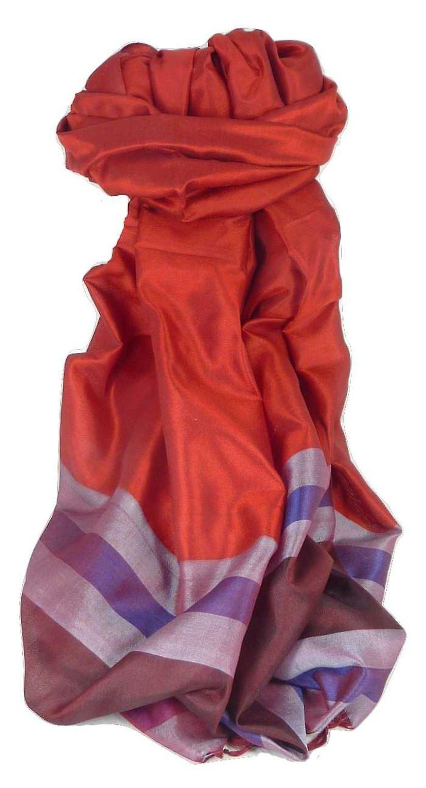 Varanasi Border Prime Silk Long Scarf Heritage Gupta 156 by Pashmina & Silk
