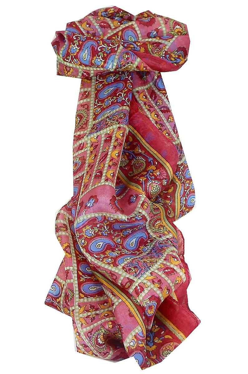 Mulberry Silk Traditional Long Scarf Chenab Cherry by Pashmina & Silk