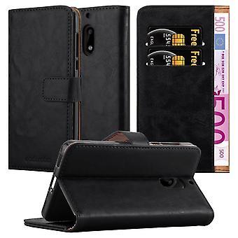 Cadorabo tapauksessa Nokia 6 2017 tapauksessa tapauksessa kansi - puhelin kotelo magneettilukko, seistä toiminto ja korttiosasto - Case Cover Suojakotelo tapauksessa Kirja Folding Style