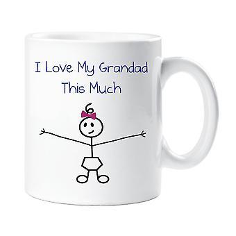 Jeg elsker min morfar dette meget piger krus