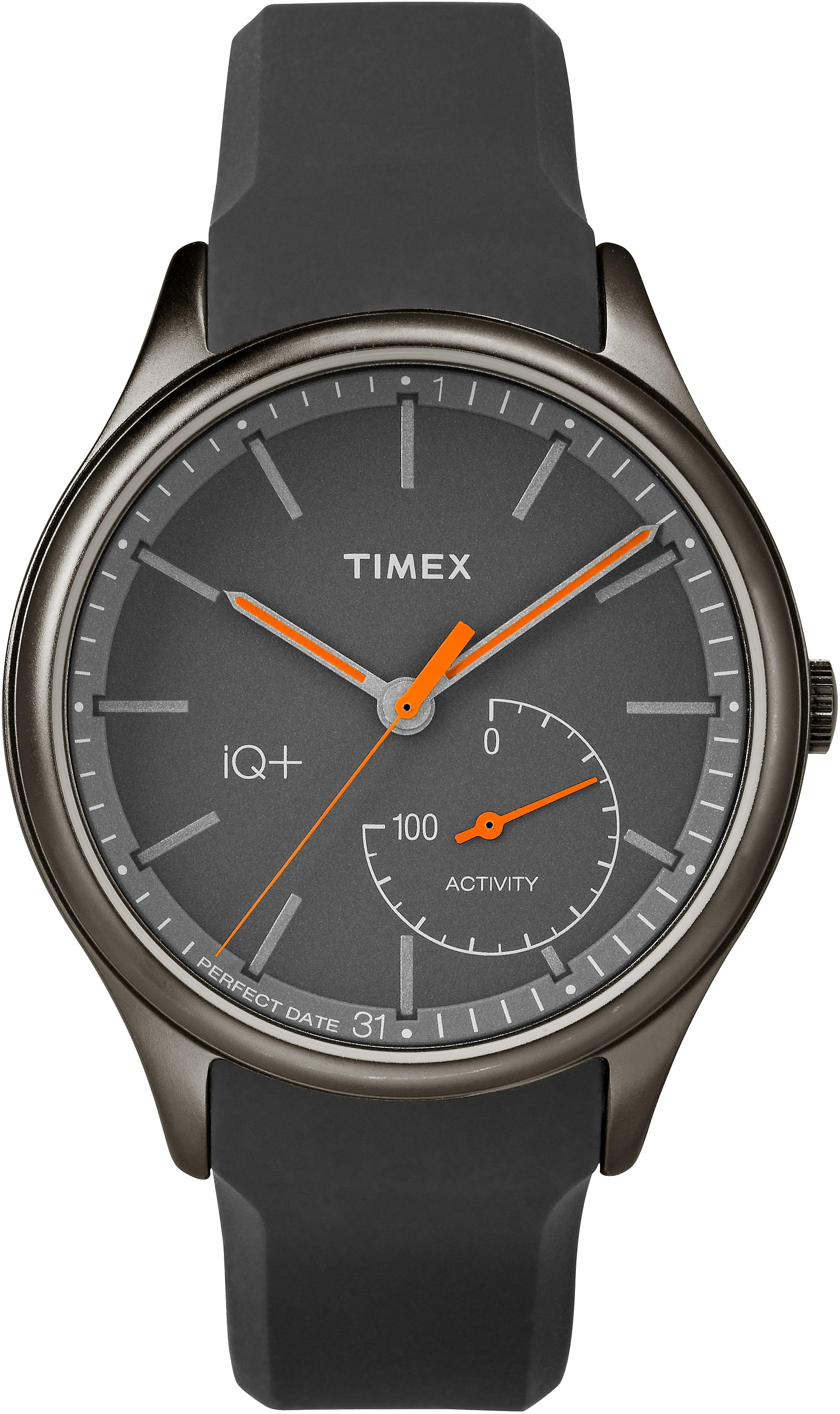 Timex Style Elevated Black IP Grey Rubber Strap Mens Watch TW2P95000 40mm