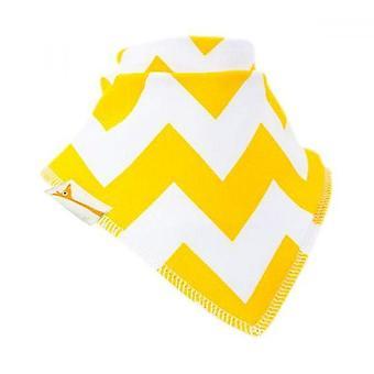Bib chustka biała & żółte zygzaki