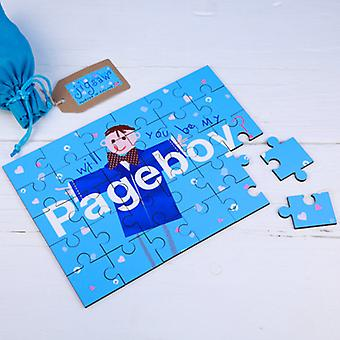 Will You be my PageBoy Page Boy Wedding Secret MessageWooden Jigsaw