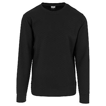 Urban classics men's diamond quilt crewneck Sweatshirt