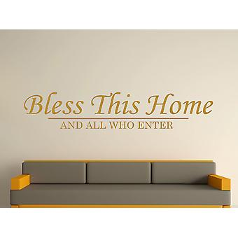 Bless This Home Wall Art Sticker - Gold