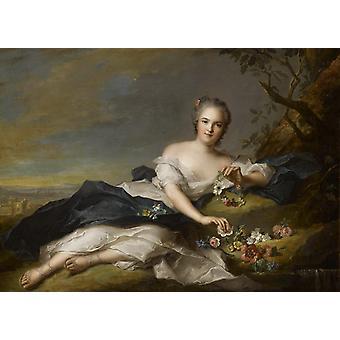 מאדאם הנרייט-פלורה, ז'אן מארק נאטייה, 60x43cm