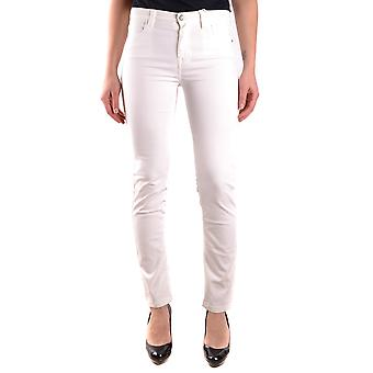 Jeckerson Ezbc069028 Women's White Cotton Jeans