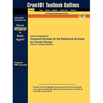 Outlines  Highlights for Research Methods for the Behavioral Sciences by Charles Stangor by Cram101 Textbook Reviews