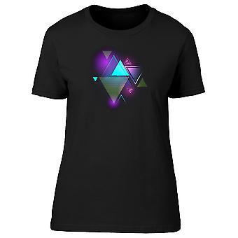 Glowing Light Triangle Shapes Tee Men's -Image by Shutterstock