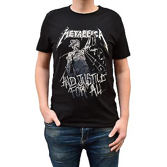 Amplified Metallica And Justice For All Black Crew Neck T-Shirt S