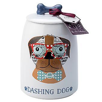 Engleză Tableware co. perfect animale de companie trata jar, Dashing Dog