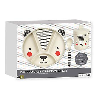 Petit Collage orso Baby Bamboo Dinnerware Set