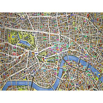 Stadsbilder Street karta över London 400 bit pussel 470 x 320 mm (HTF)