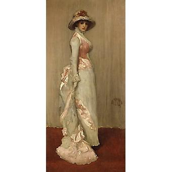 Valerie,Lady Meux,James Abbott Mcneill Whistler,80x37cm