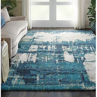 Corsica Shag CRC01 rettangolo blu tappeti tappeti moderni